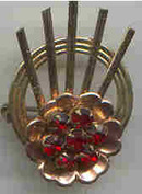 Brooch/Designer/Harry Iskin/Gold Filled Retro