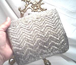 Purse/La Regale Ltd. Evening/Silver Beaded
