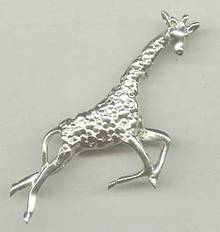 Brooch/Contemporary Sterling Giraffe/Mexico/Signed