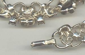 Set(s)/Designer/Coro Script W/Pegasus Rhinestone Necklace & Bracelet