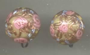 Earrings/Screwbacks/Lampworked Button Beads