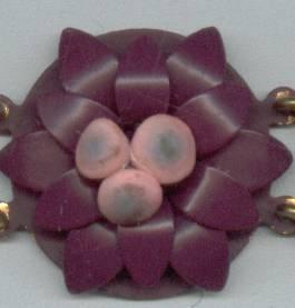 Bracelet/Link/Enamaled/Floral