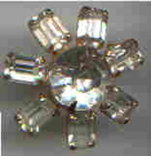 Brooch/Scatter Pin Clear Rhinestone