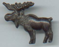 Fraternal/Stud/Button/Profile Of Bull Moose