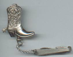 Tie Clip/Hicock Clip and Cowboy Boot Pin