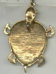 Pendent/Designer/ART Articulated/Enameld Turtle