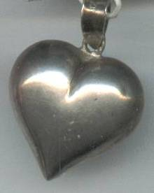 Pendent/Charm/Sterling Puffy Heart