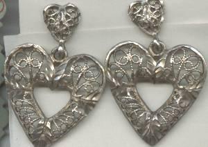 Earrings/Designer/NF/Pierced Sterling Hearts