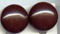 Earrings/Clip Ons/C. 1946 Brown Glass