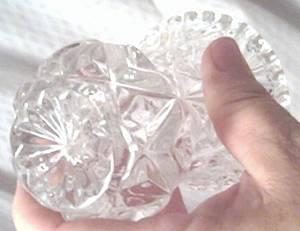 Vase/Minature/Lead Crystal Zajecar/Made in Yogoslavia
