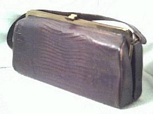 Purse/C.Late1940's to Early 1950's Real Lizzard/Box Style