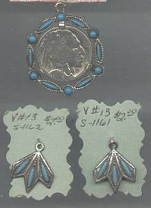 Pendent/W/2 Charms Native American Style
