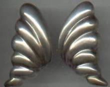Earrings/Pierced/Mexican Sterling/Lg. /Soft