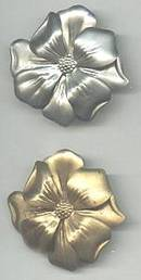 Dress Clips(s)/Pr. Stamped Floral /1-Goldtone/1-Silvertone