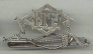 Tie Bar/C.20's-30's Chatelain W/Marcasite DropW/Initials-AGS in Marcasites