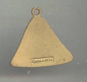 Charm/MMA 1976 Marked Egyptian Lotus Motif Enameled