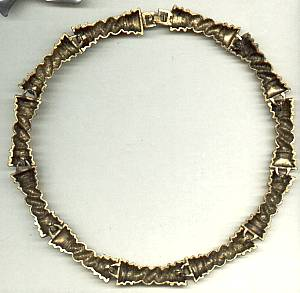 Necklace/Choker/C.1970 Heavy Goldtone Link