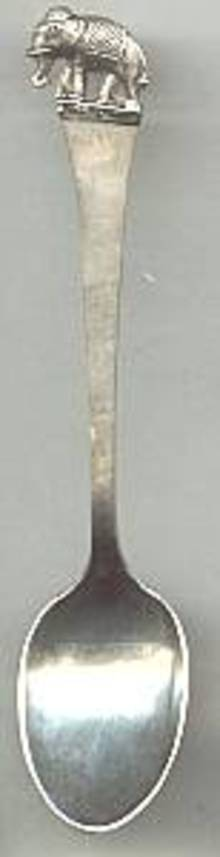 Collctor Spoon(s)/Sterling Demi Tasse W/Elephant on Tp/Made in Thialand