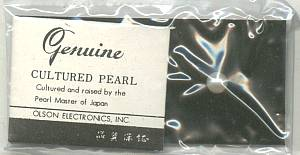Cultured Pearls/4-6MM Drilled/Mounted & Sealed on Olson Electronic Cards