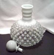 Perfume Bottle/W/Stopper/French Opalescent Hobnail