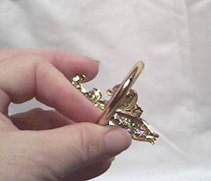 Napkin Ring/Stamped Brass Fluer de Lis