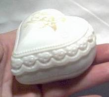 Avon Heartscent Cream Sachet Jar/Heart Shape