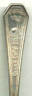 World's Fair/1933  Held in Chicago Souvenir Spoon