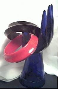 Bracelet/Bangles/Molded Plastic /1-Red/1-Black