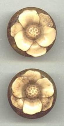 Button(s) Confettie Lucite Floral W/Shank (2)