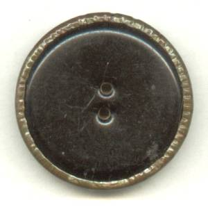 Button(s) Lg. 2 Piece Sew Through Celluloid W/Pie Crust Edge