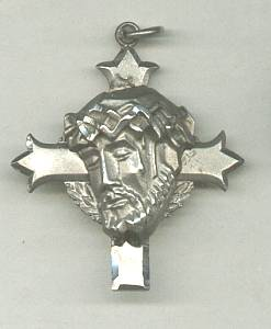 Religious/Pendent/Cross/Crucified Christ Head