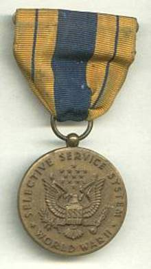 Service Pin(s)/Selective Service Systems Award