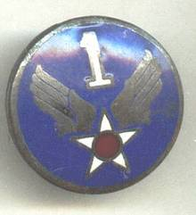 Militaria/Blue Enamel AF 1 Pin Star W/Red Dot