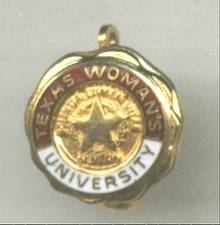 School/Texas Woman's University Pin