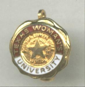 School/Texas Woman's University Pin