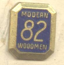 Service Pin(s)/Lapel Pin/Modern 82 Woodmen