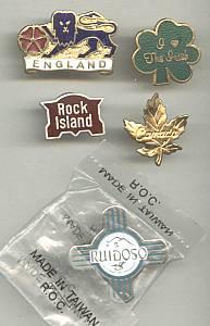 Souvenir/Place Tack Pins/5 Pins