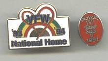 Souvenir/Tack Pins Earter Seals & VFW National Home