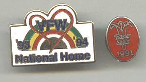 Souvenir/Tack Pins Earter Seals & VFW National Home