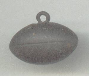 Charm(s)/C.1910 Solid Brass Football