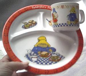 Collectibles/Padington Bear Childs Plate & Cup