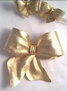 Set(s)/Unsigned Designer GT Bow Brooch&Ear