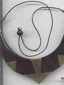 Necklace/Laquered & Inlaid ?Horn
