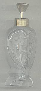 Perfume Bottle/Etched Glass W/Pump Sprayer