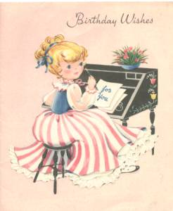 Ephemera/Birthday Card From 1950's/Signed