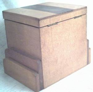 Smoking Item/Wooden Cigarette Box/Holds 3 Short