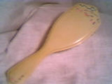 Vanity Item(s)/Hair Brush W/enamaled Decoration