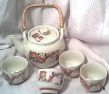 Porcelain/China/Circa 1970's 5 PCS. Tea Set/Japanese