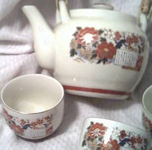 Porcelain/China/Circa 1970's 5 PCS. Tea Set/Japanese