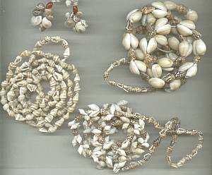 Necklace/Lot-5-Tourist Type Shell Necklaces